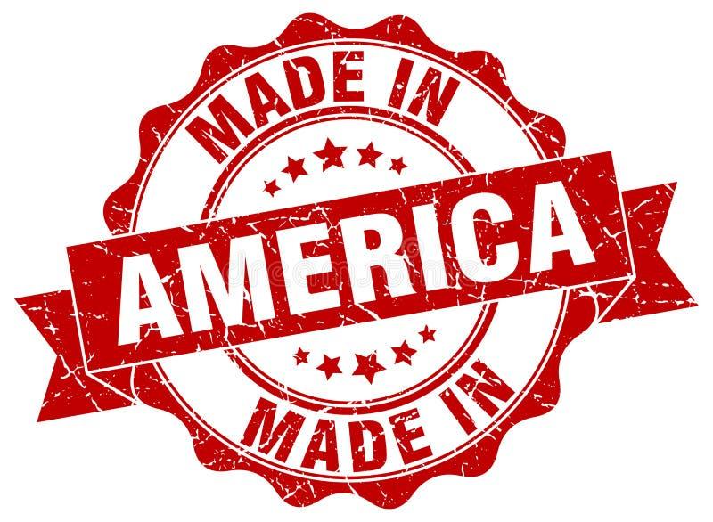 Hecho en el sello de América stock de ilustración