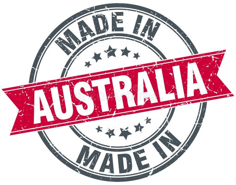 Hecho en el sello de Australia stock de ilustración