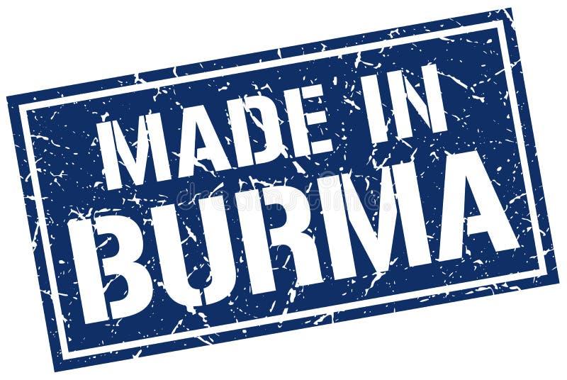 hecho en el sello de Birmania libre illustration
