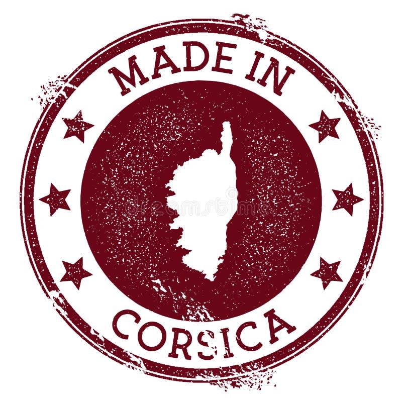 Hecho en el sello de Córcega stock de ilustración
