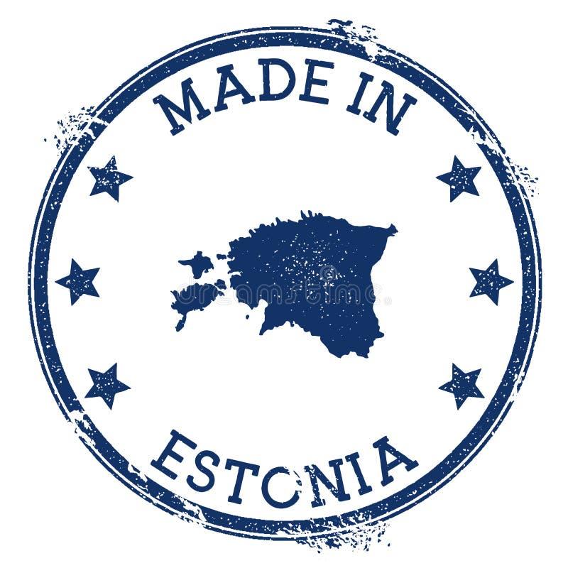 Hecho en el sello de Estonia ilustración del vector