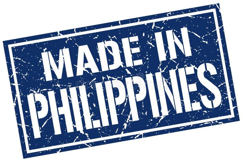 hecho en el sello de Filipinas stock de ilustración