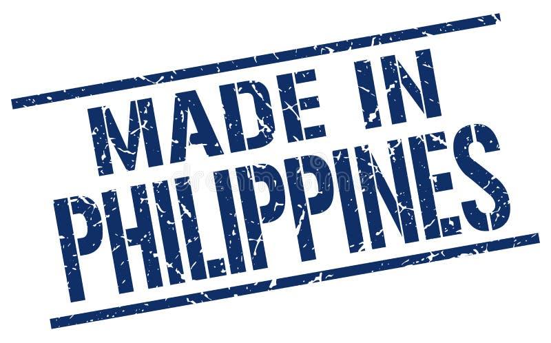 hecho en el sello de Filipinas ilustración del vector