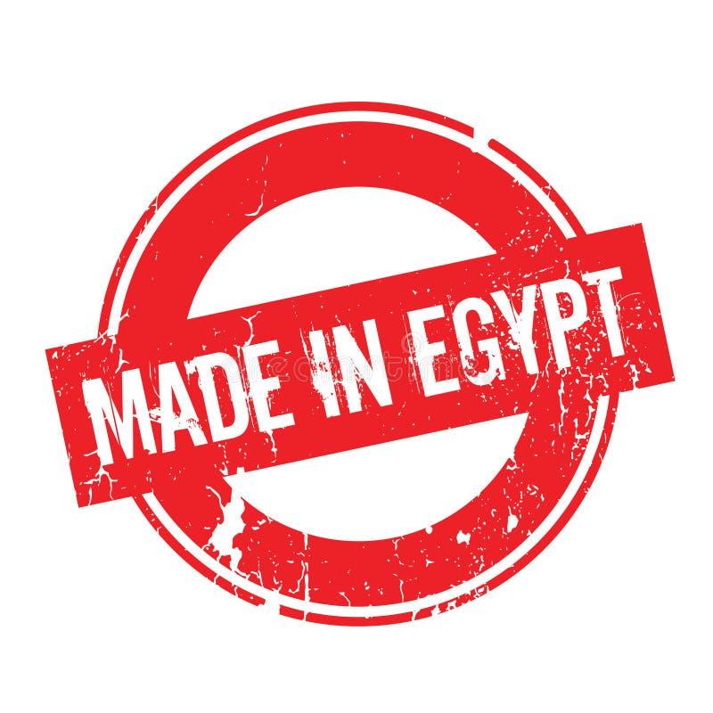 Hecho en el sello de goma de Egipto stock de ilustración