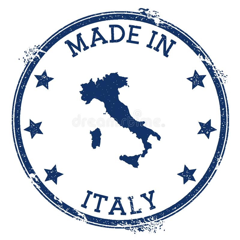 Hecho en el sello de Italia stock de ilustración