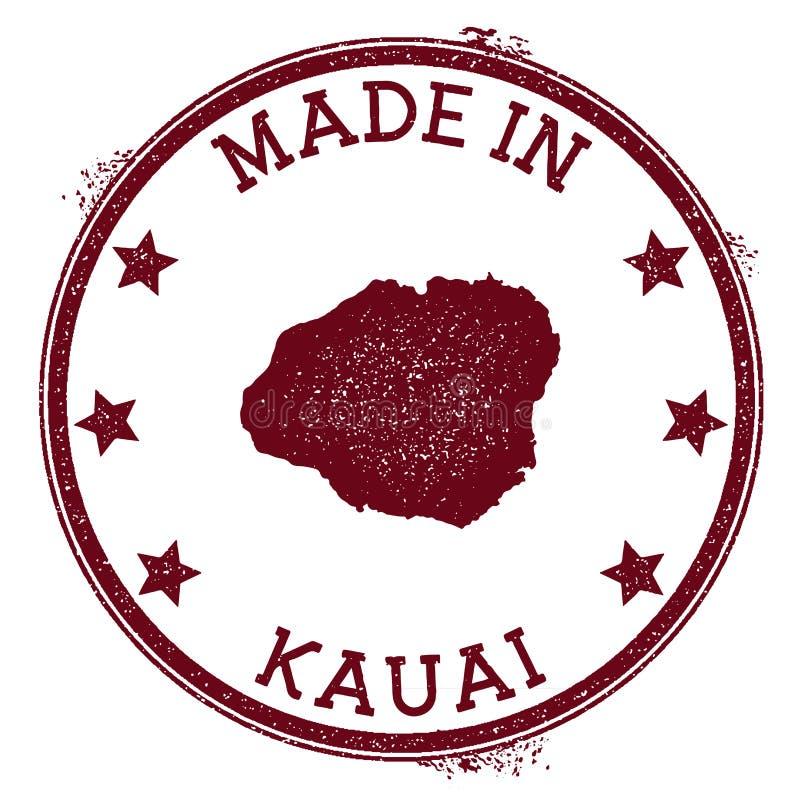 Hecho en el sello de Kauai ilustración del vector