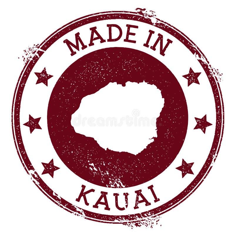 Hecho en el sello de Kauai stock de ilustración