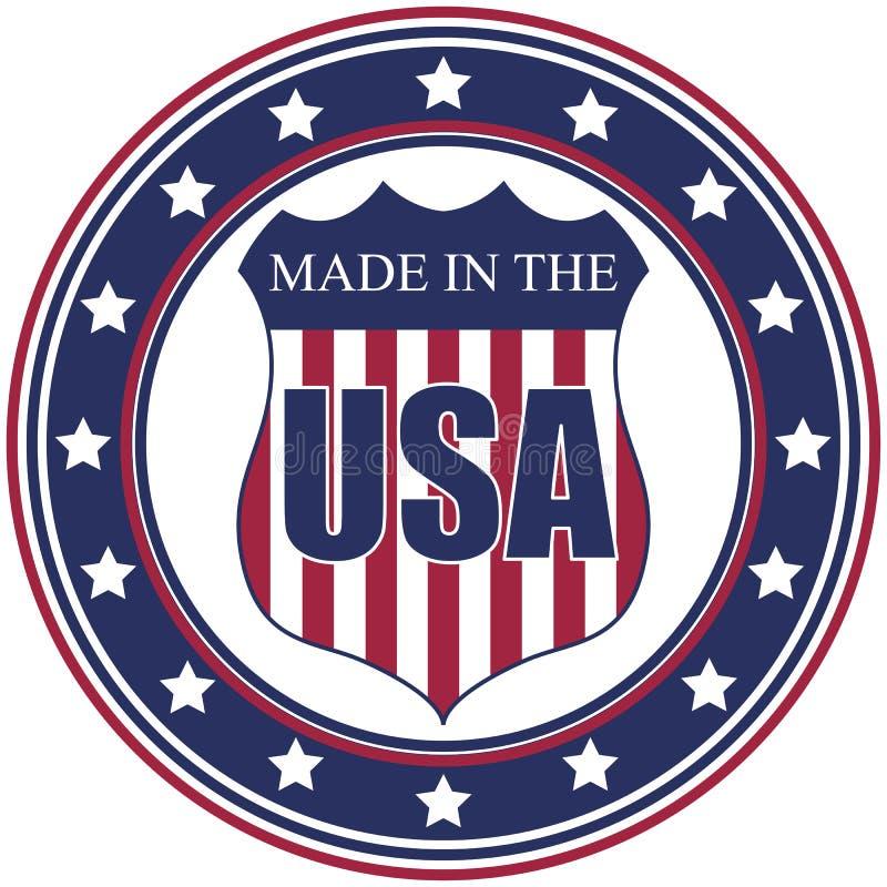 Hecho en el sello de los E.E.U.U. ilustración del vector
