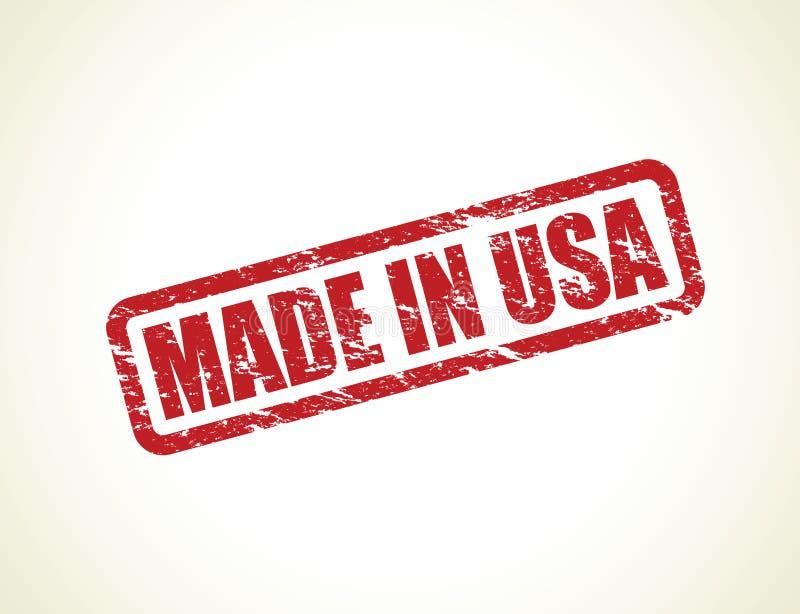 Hecho en el sello de los E.E.U.U. stock de ilustración