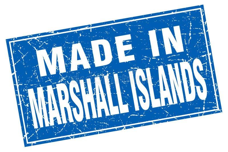 Hecho en el sello de Marshall Islands stock de ilustración