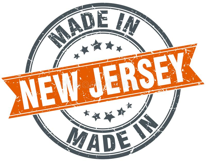 Hecho en el sello de New Jersey libre illustration