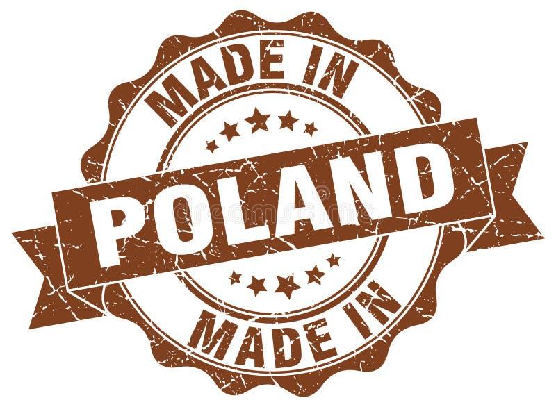 Hecho en el sello de Polonia stock de ilustración