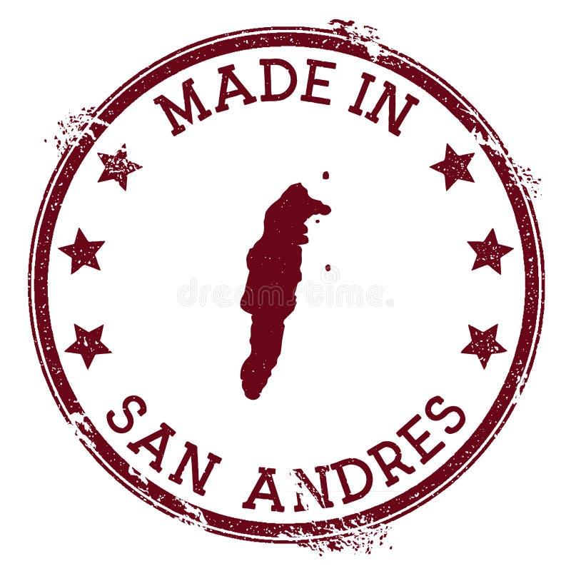 Hecho en el sello de San Andres ilustración del vector