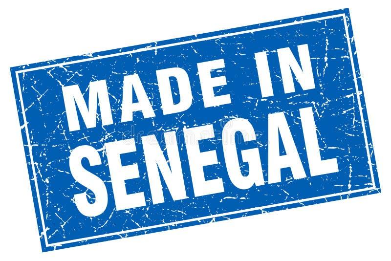 hecho en el sello de Senegal ilustración del vector
