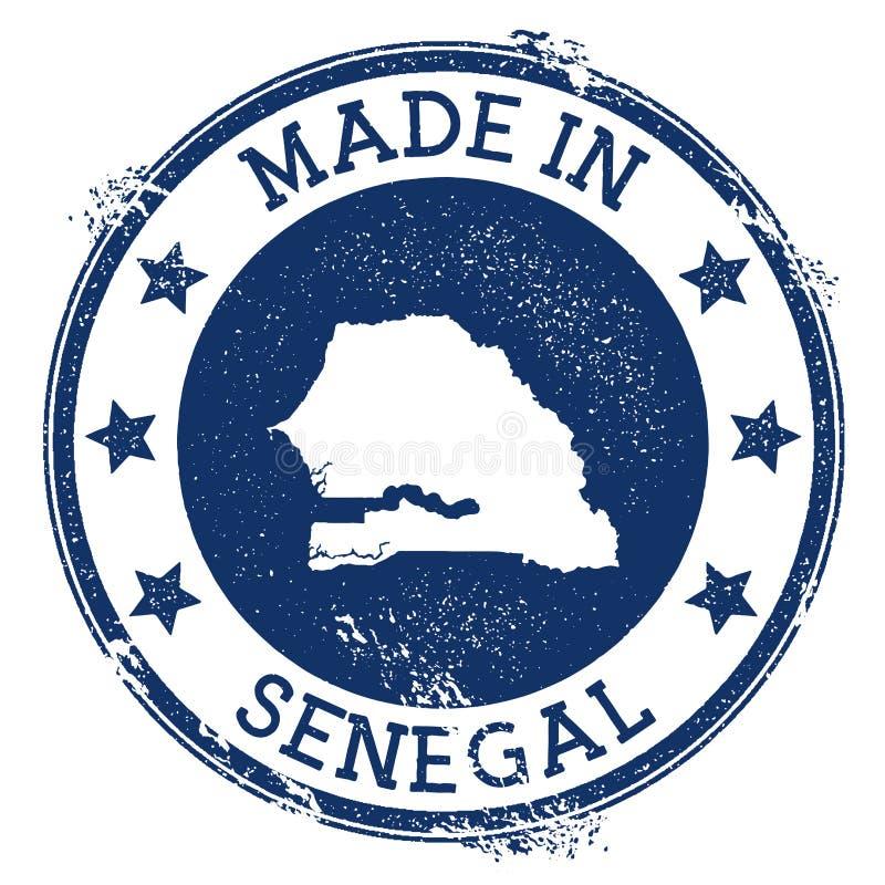 hecho en el sello de Senegal stock de ilustración