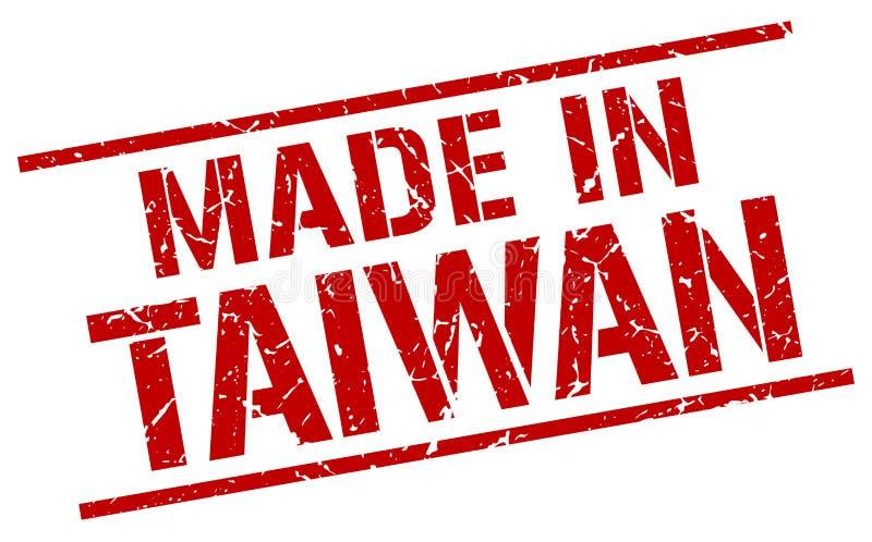 Hecho en el sello de Taiwán stock de ilustración