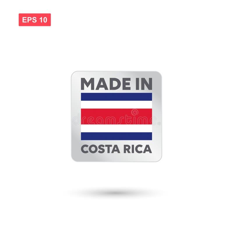 Hecho en el vector de Costa Rica libre illustration