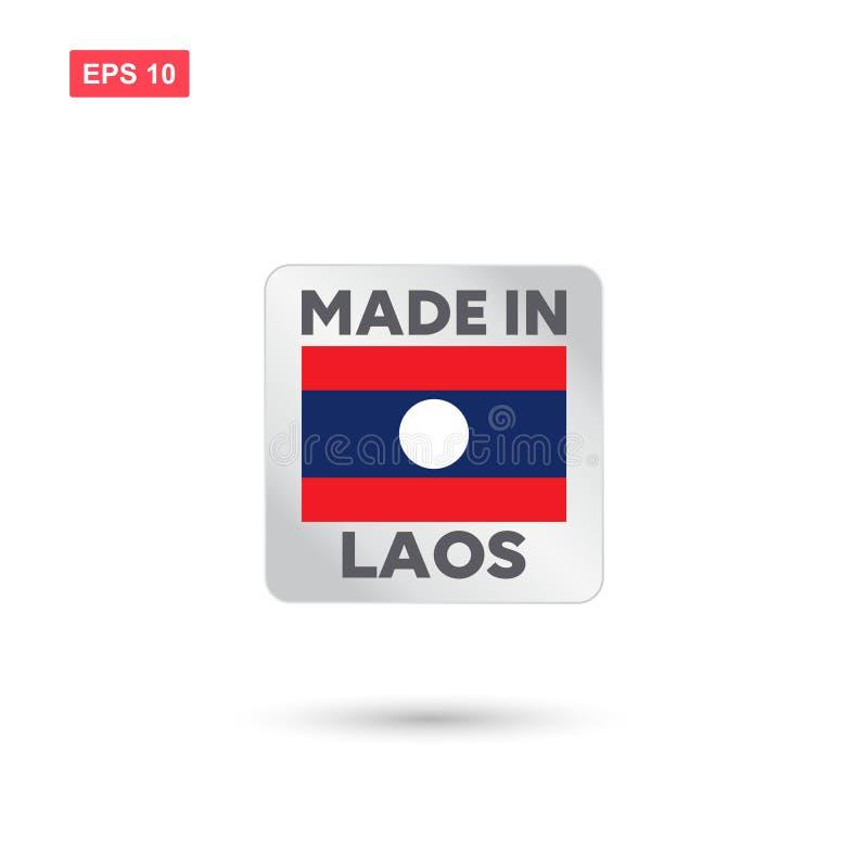 Hecho en el vector de Laos stock de ilustración