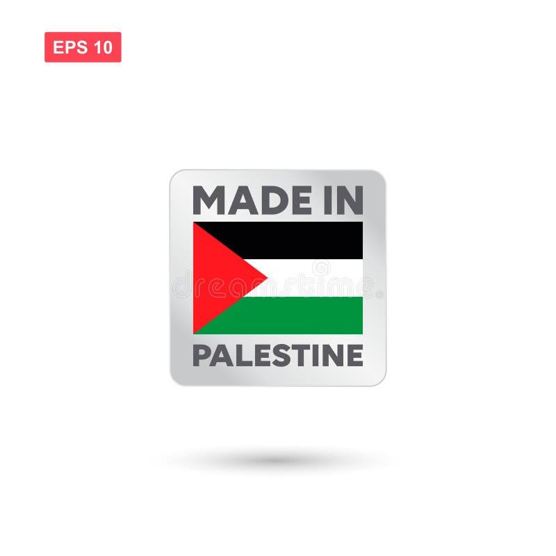 Hecho en el vector de Palestina libre illustration