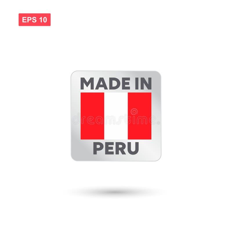 Hecho en el vector de Perú ilustración del vector