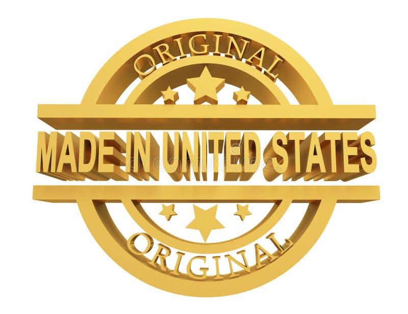 Hecho en Estados Unidos, ejemplo 3d stock de ilustración