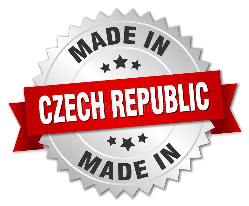 hecho en insignia de la República Checa libre illustration