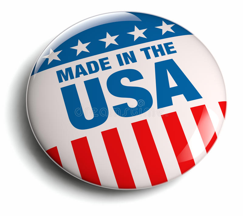Hecho en insignia del americano de los E.E.U.U. libre illustration