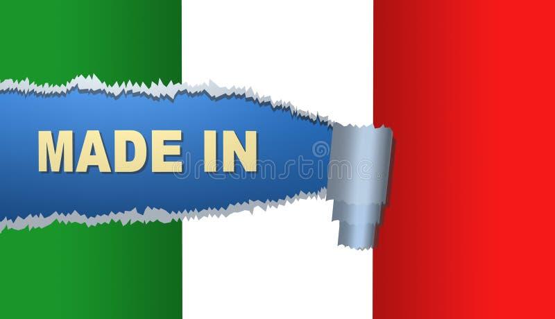Hecho en Italia, bandera, ejemplo ilustración del vector