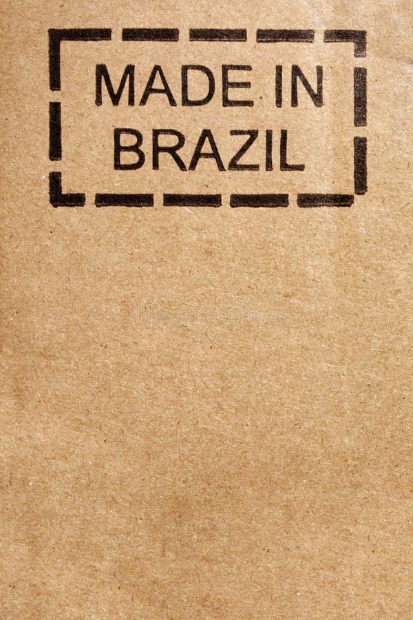 Hecho en la cartulina del Brasil fotografía de archivo