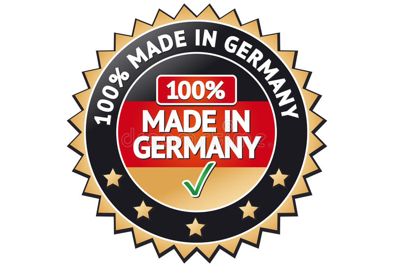 Hecho en la escritura de la etiqueta de Alemania libre illustration