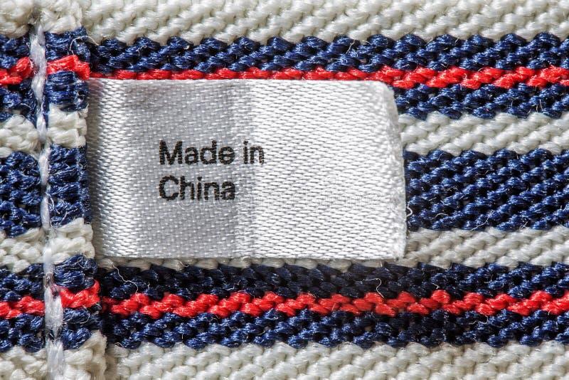Hecho en la etiqueta de China fotos de archivo libres de regalías
