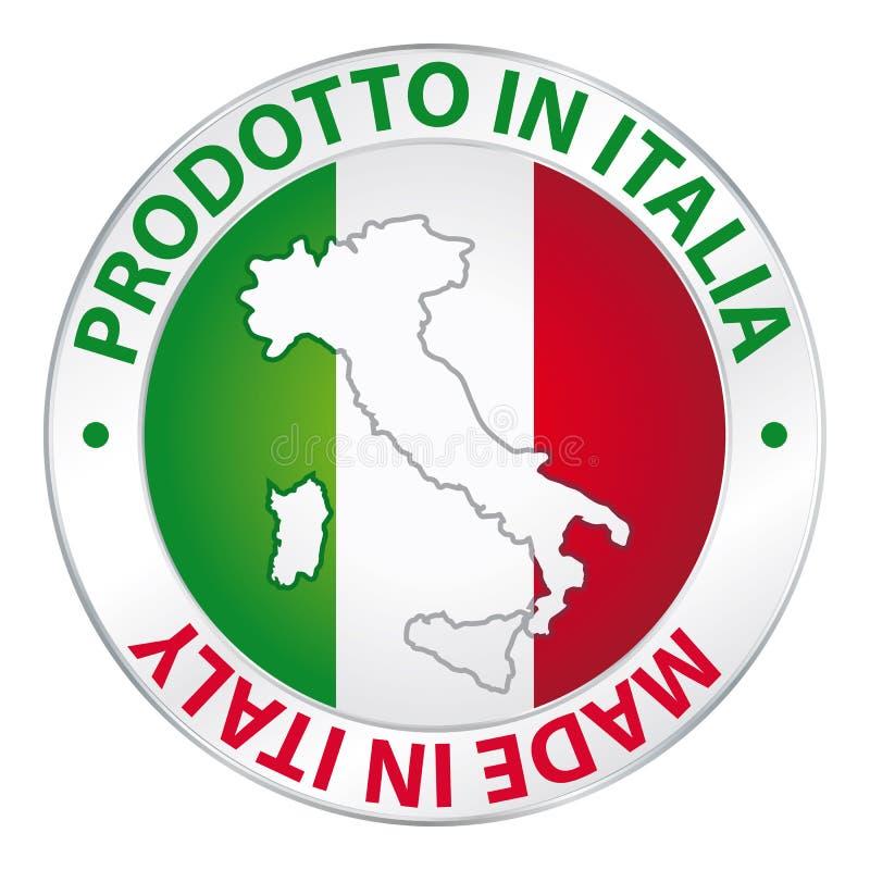 Hecho en la etiqueta de Italia stock de ilustración