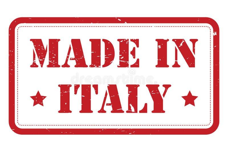 Hecho en la muestra de Italia ilustración del vector