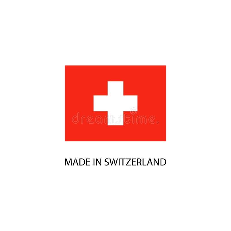 Hecho en la muestra de Suiza stock de ilustración