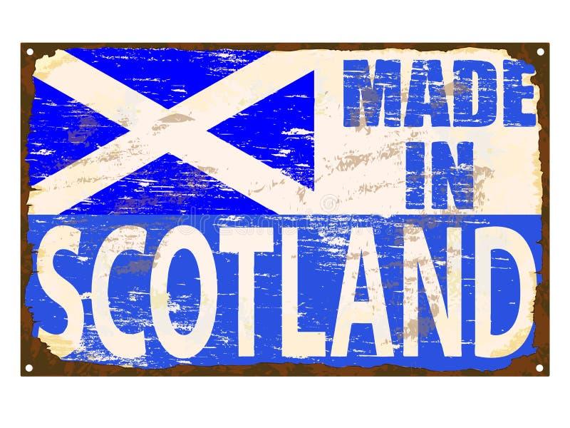 Hecho en muestra del esmalte de Escocia stock de ilustración