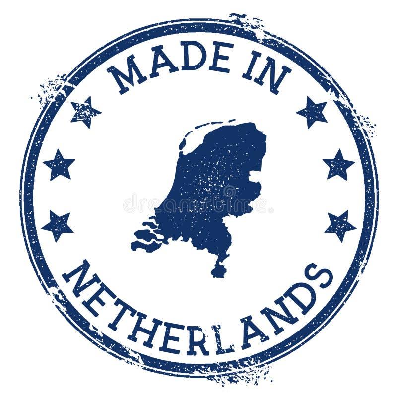 hecho en sello holandés stock de ilustración