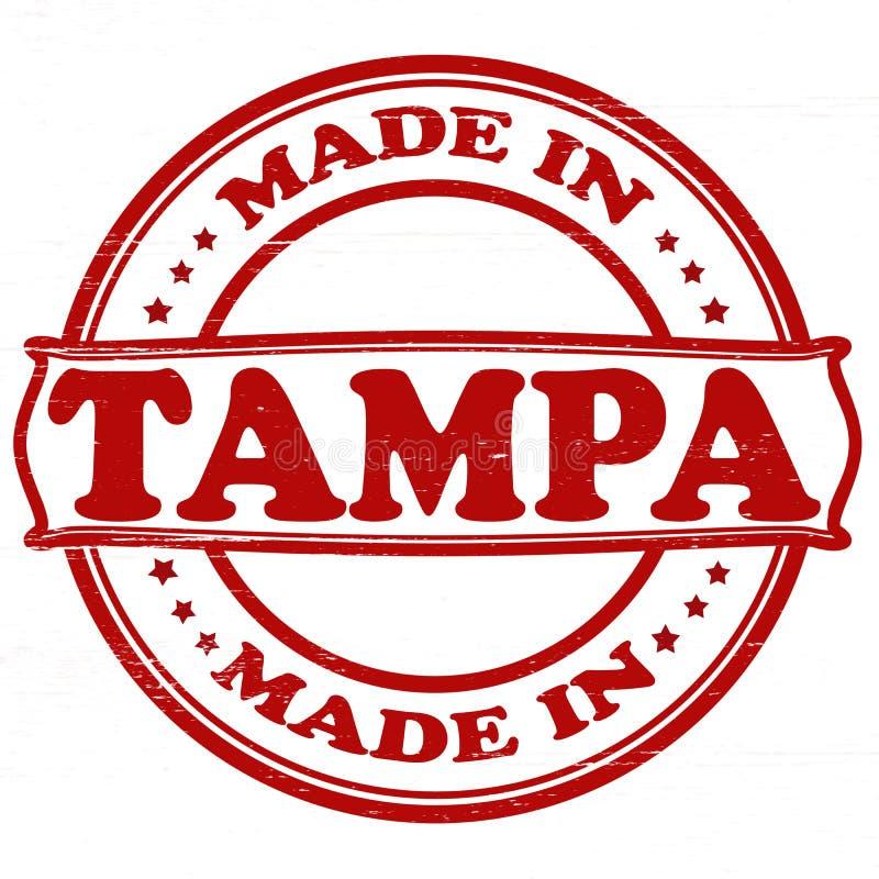 Hecho en Tampa ilustración del vector