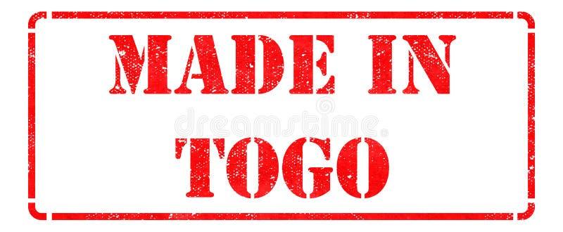 Hecho en Togo en sello rojo stock de ilustración