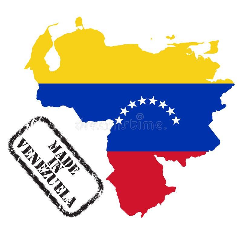 Hecho en Venezuela ilustración del vector