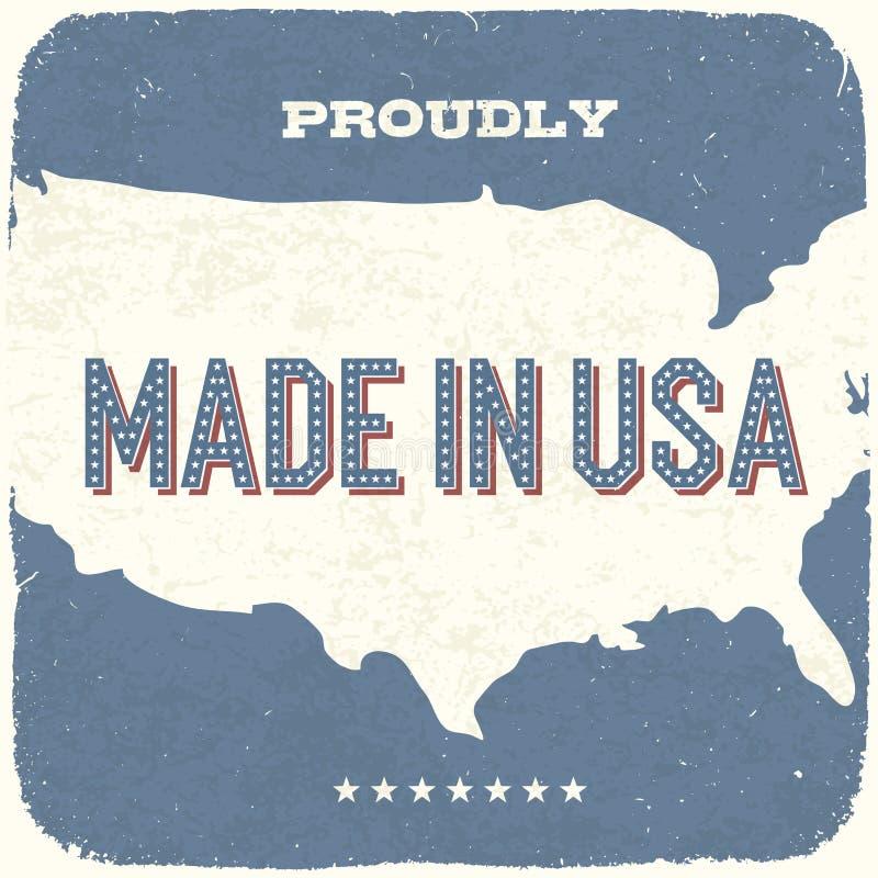 Hecho orgulloso en los E.E.U.U. stock de ilustración