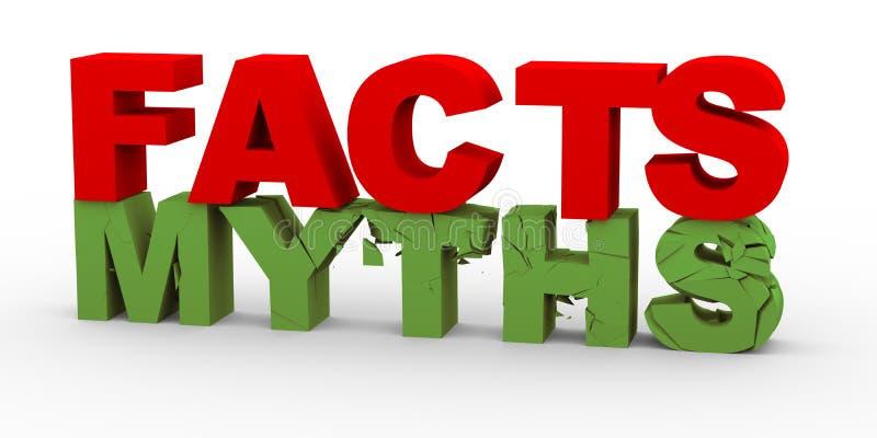 hechos 3d sobre mitos ilustración del vector
