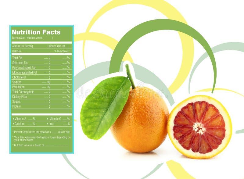 Hechos anaranjados de la nutrición libre illustration
