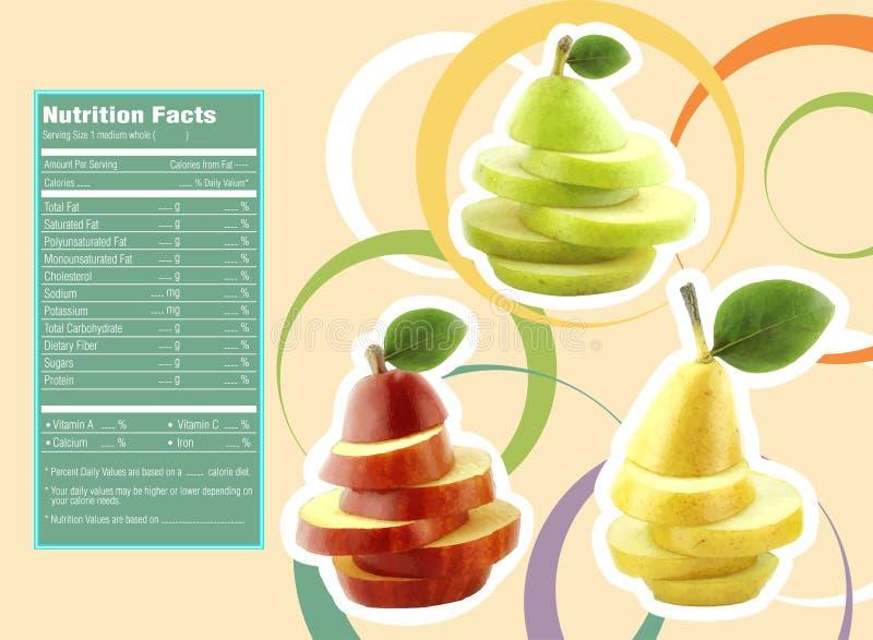 Hechos de la nutrición ilustración del vector