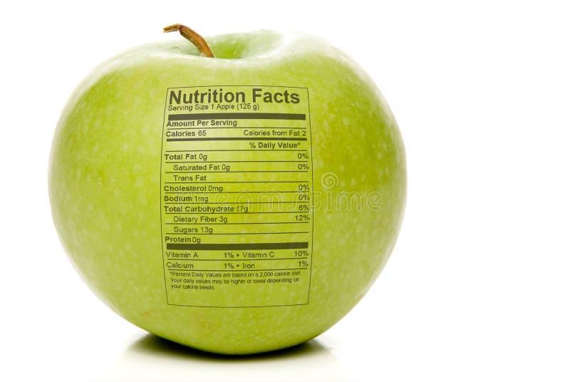 Hechos de la nutrición de Apple foto de archivo libre de regalías