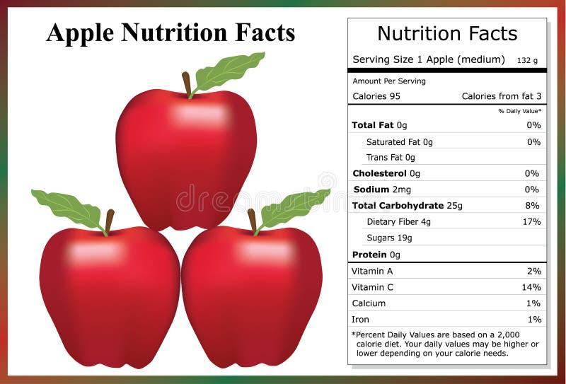 Hechos de la nutrición de Apple ilustración del vector