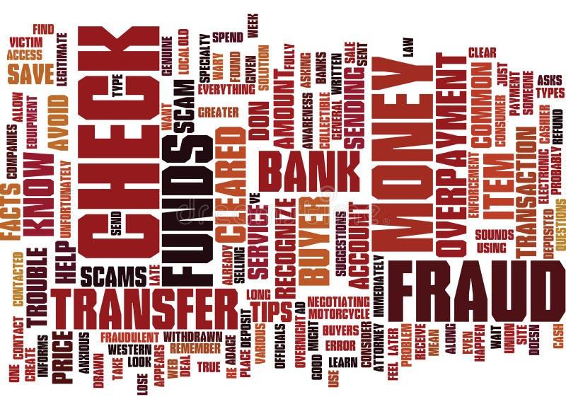 Hechos y extremidades del fraude para ayudarle a mandar un SMS a concepto de la nube de la palabra del fondo ilustración del vector