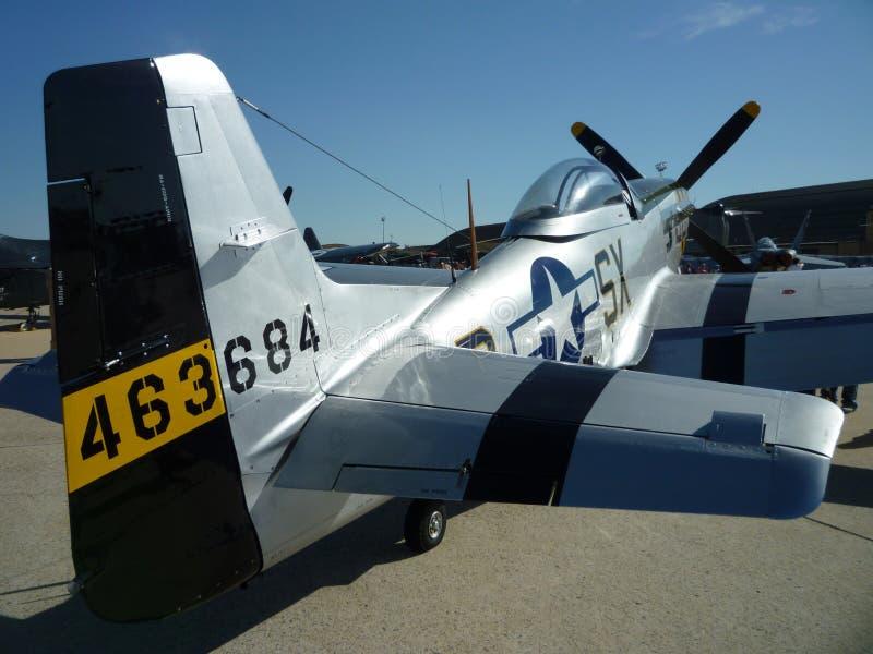 Heck-Ansicht des P51 D Mustangs lizenzfreie stockfotografie