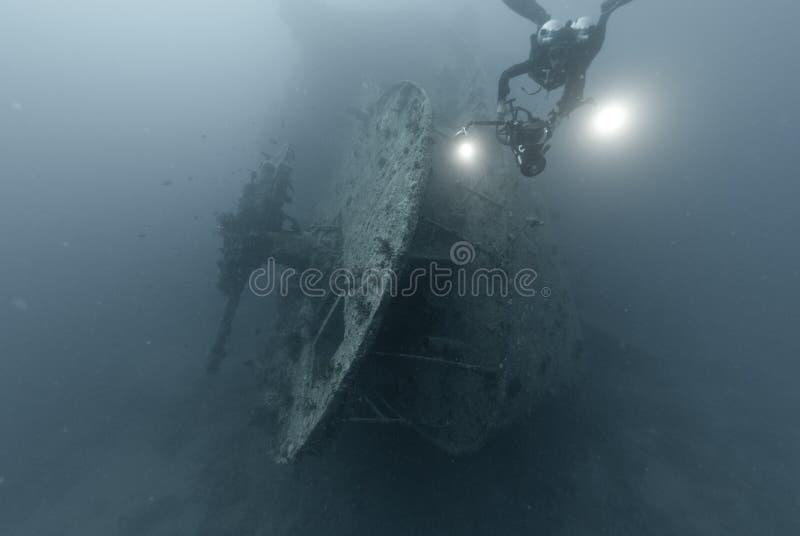 Heck der SS Thistlegorm lizenzfreies stockbild
