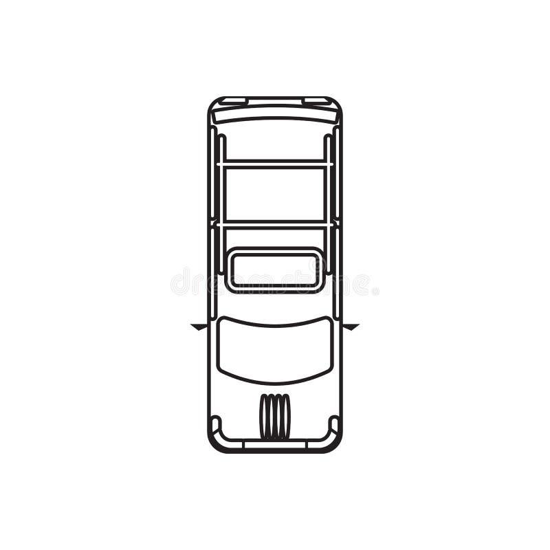 Heckt?rmodellikone Element der Transportansicht von oben f?r bewegliches Konzept und Netz Appsikone Entwurf, d?nne Linie Ikone f? stock abbildung