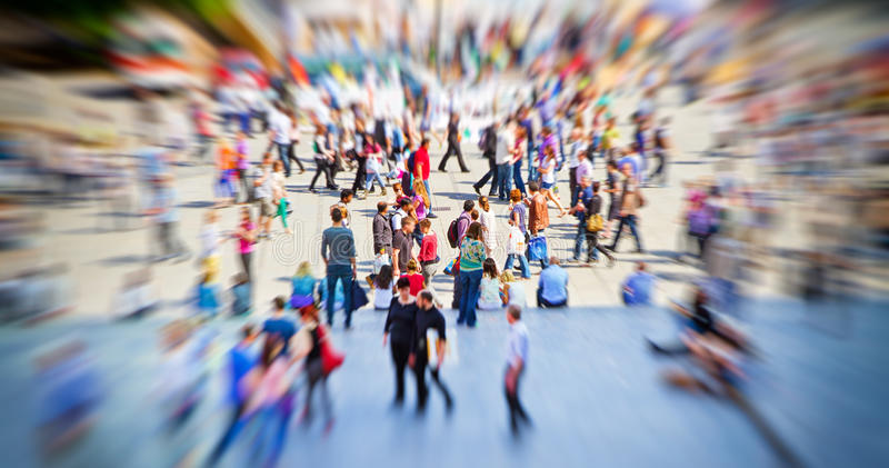 Hectic in the city royalty free stock photography